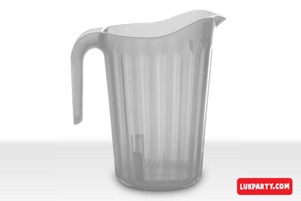 Jarra Descartable plástica 1,8lts PP translúcida