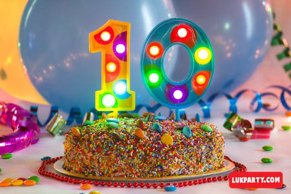 Números gigantes Multicolor con luz