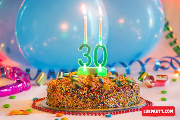 Portavelas con luz led - 30 años