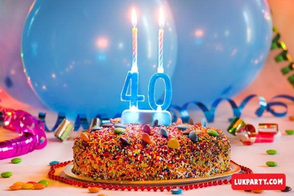 Portavelas con luz led - 40 años