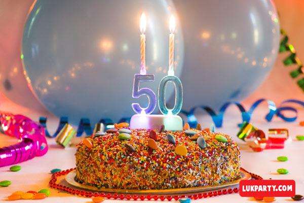 Portavelas con luz led - 50 años