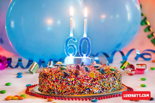Portavelas con luz led - 60 años