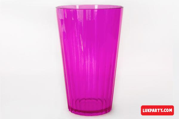 Vaso Descartable Gastronómico plástico rígido 500ml color rosa