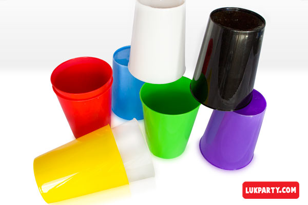 Vasos Descartable plásticos 250ml varios colores