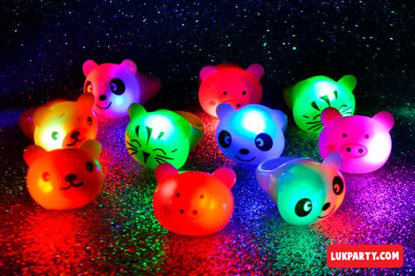 Anillo luminoso Animalitos - Surtido