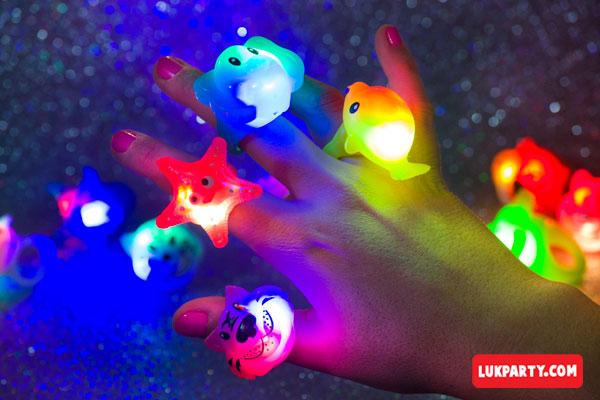 Anillos con luz