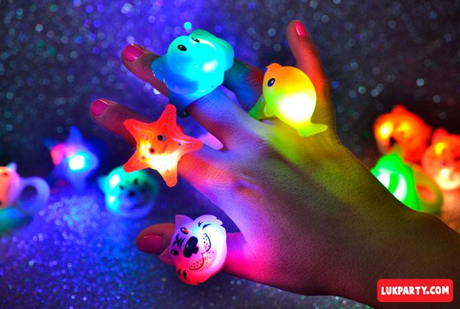 Anillos con luz Animalitos Marinos