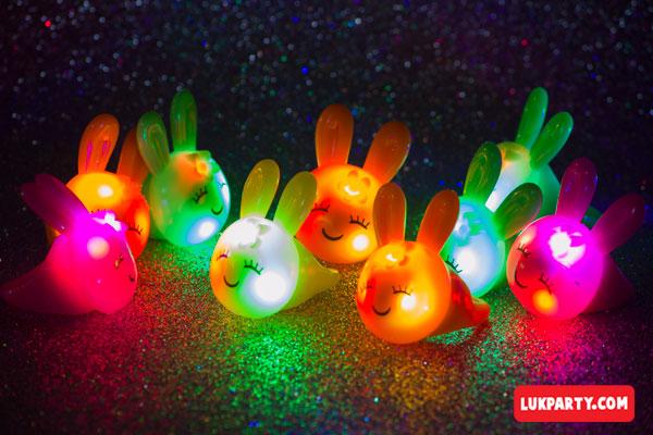 Anillos Luminosos Conejitos - surtido
